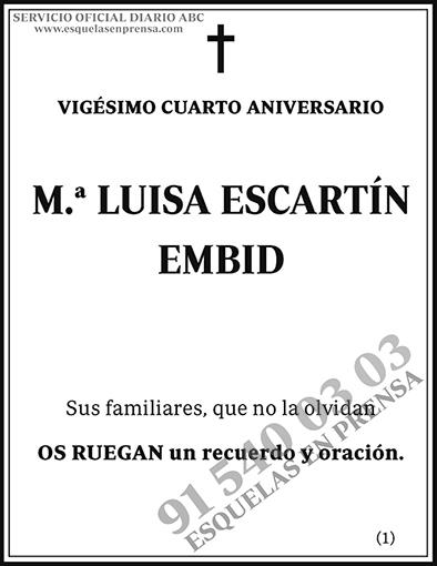 Luisa Escartín Embid